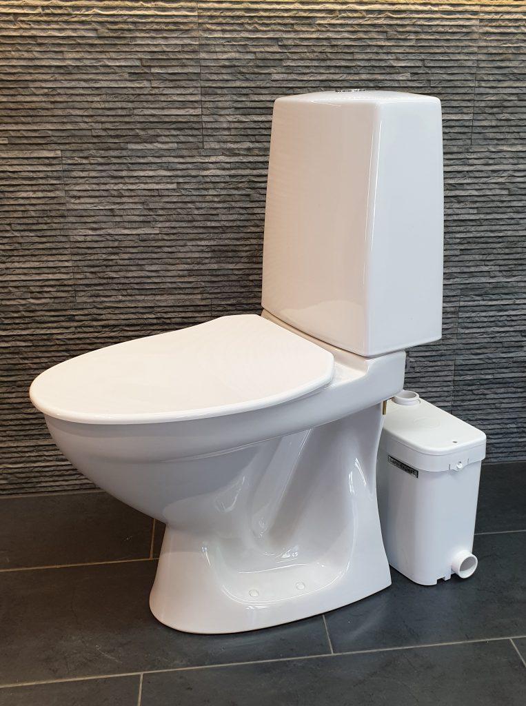 WC-istuin ja WC-pumppaamo yhdellä toimituksella